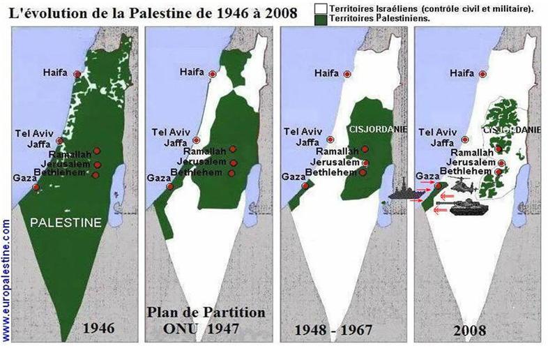 evolution terre palestinienne